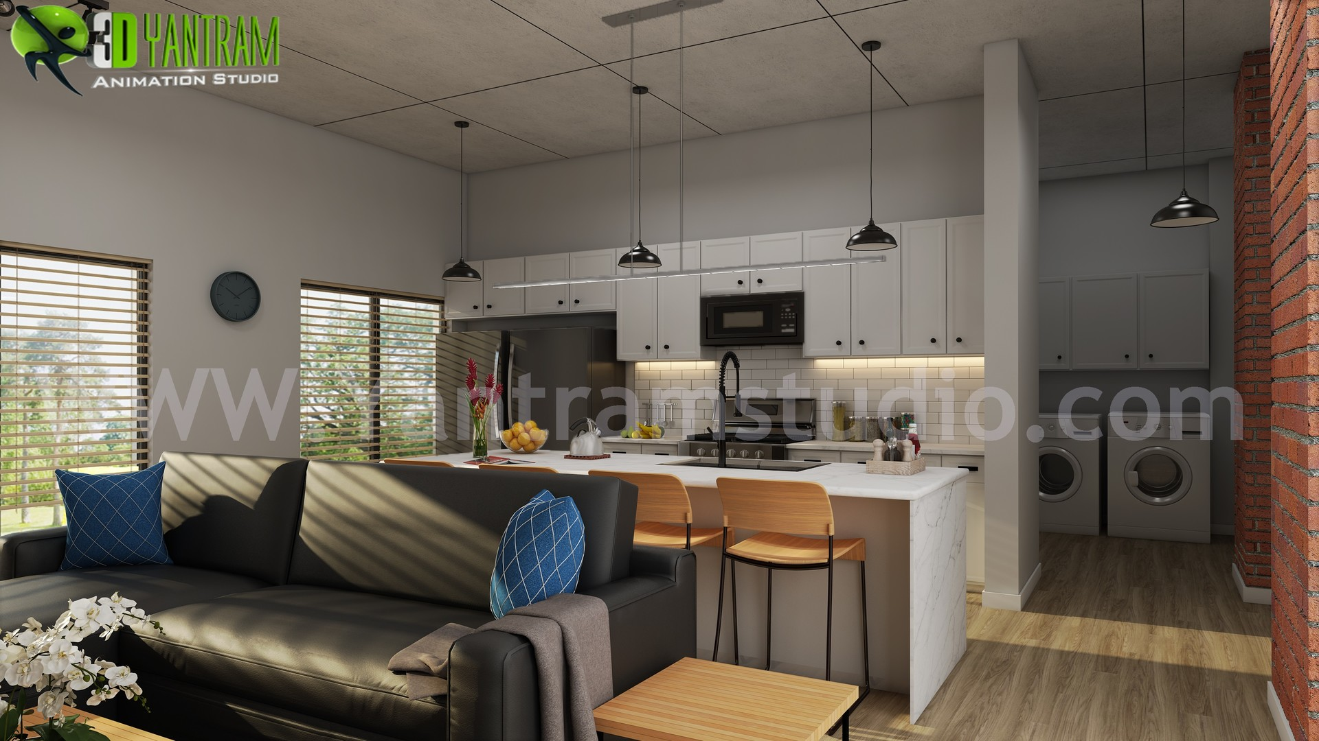 Artstation Modern Small Kitchen Design Ideas By Yantram 3d