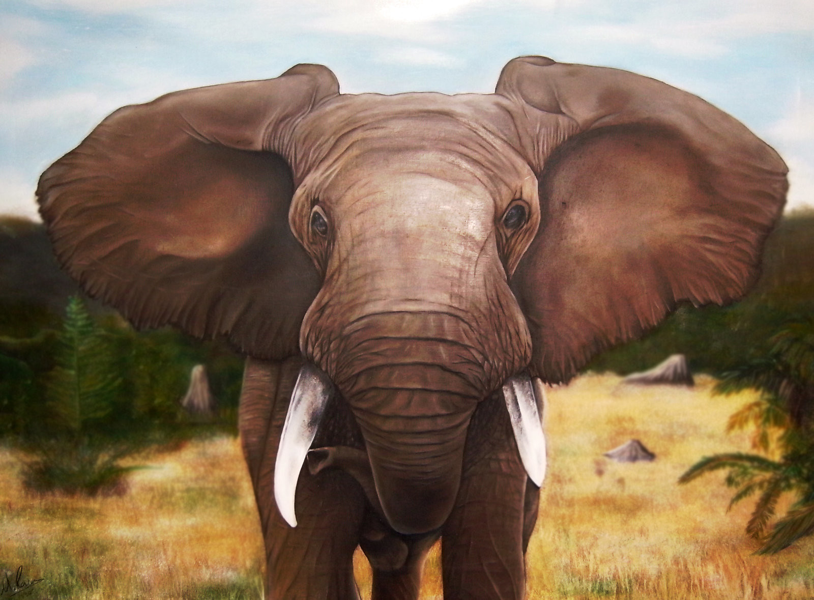 Mark ranson elephant painting by lost artist89