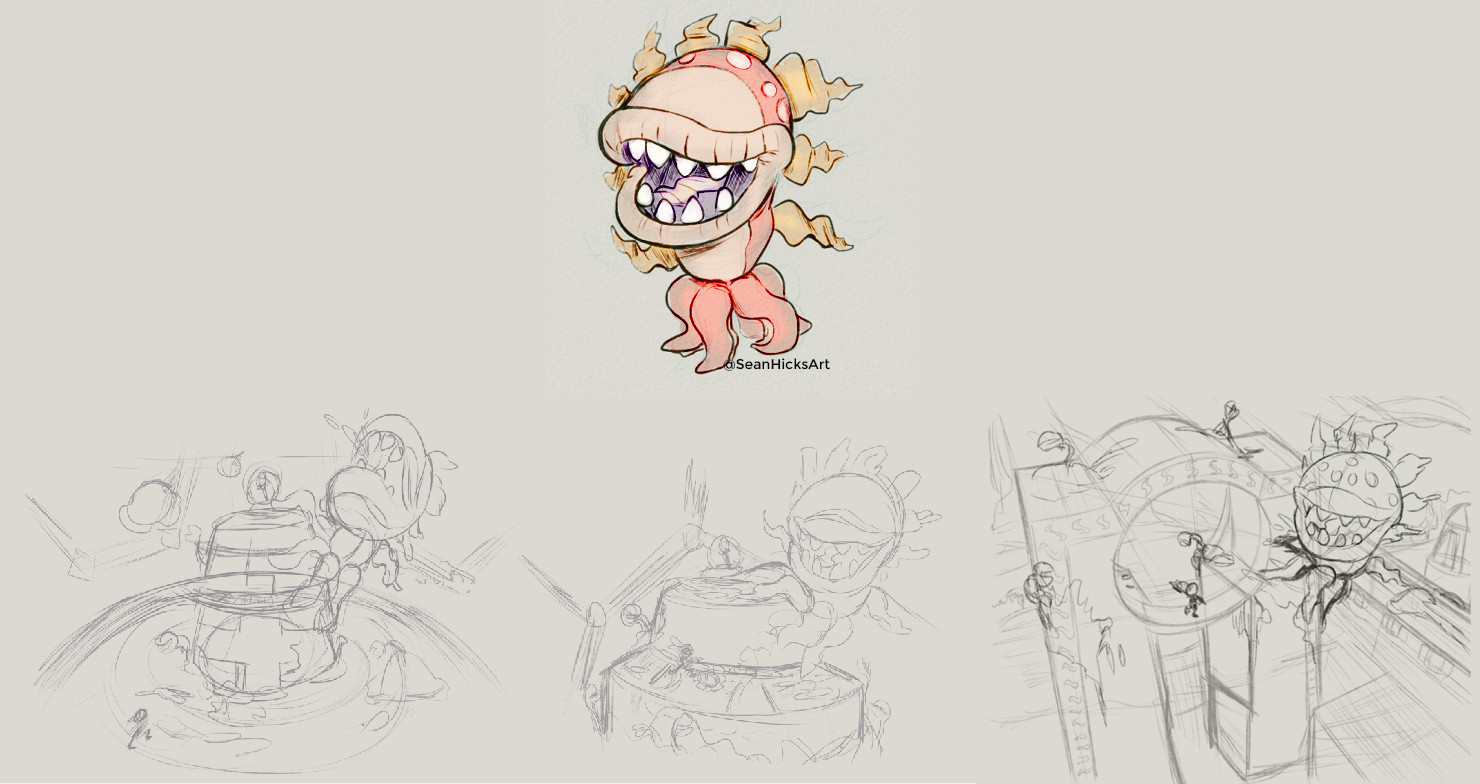 Some of the preliminaries for making the Octo Petey boss fight.