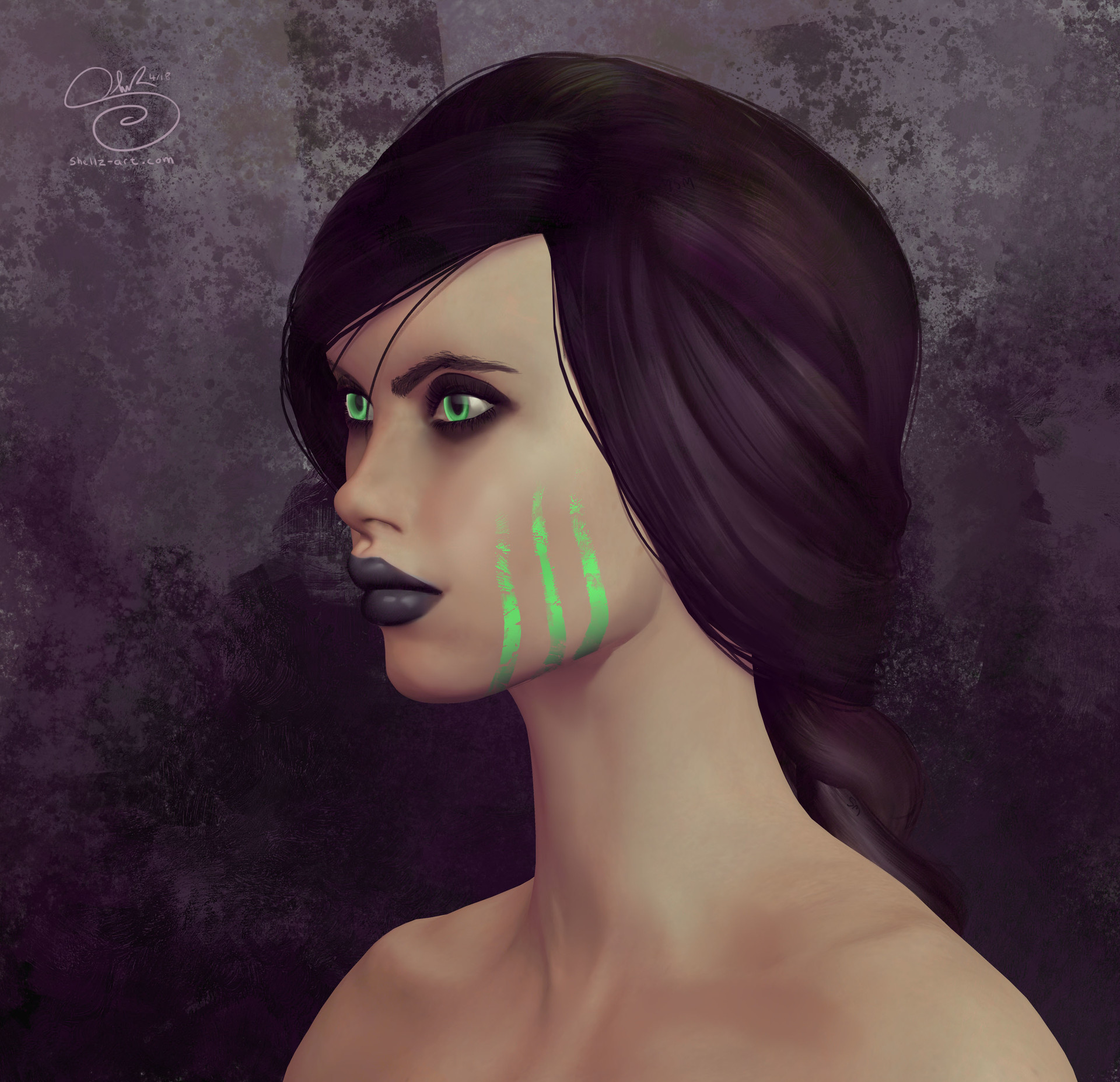 Shellz art main character portrait