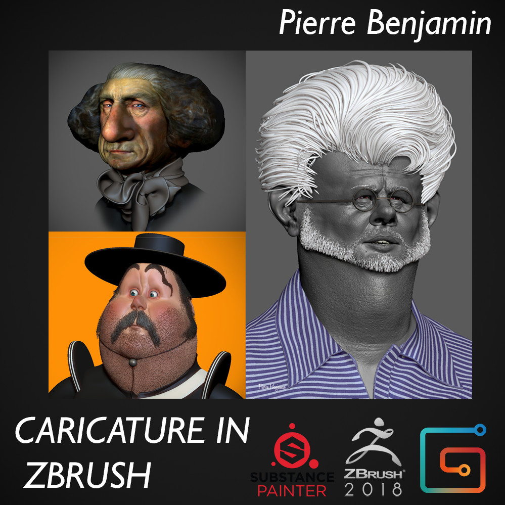 Caricature in ZBrush - Online course