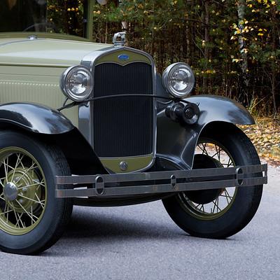 Nail khusnutdinov a0007 ford a pickup 1931 render green 1