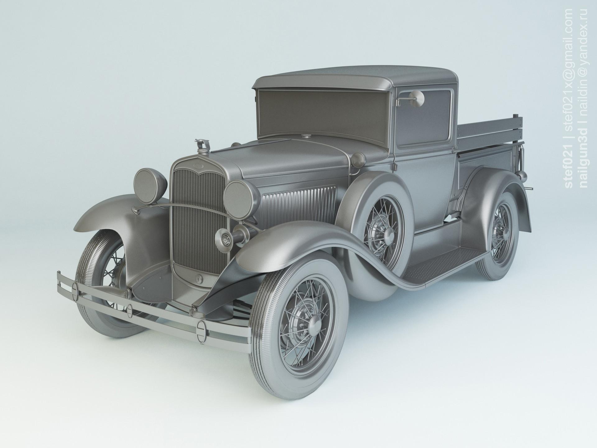 Nail khusnutdinov a0007 ford a pickup 1931 clay 0