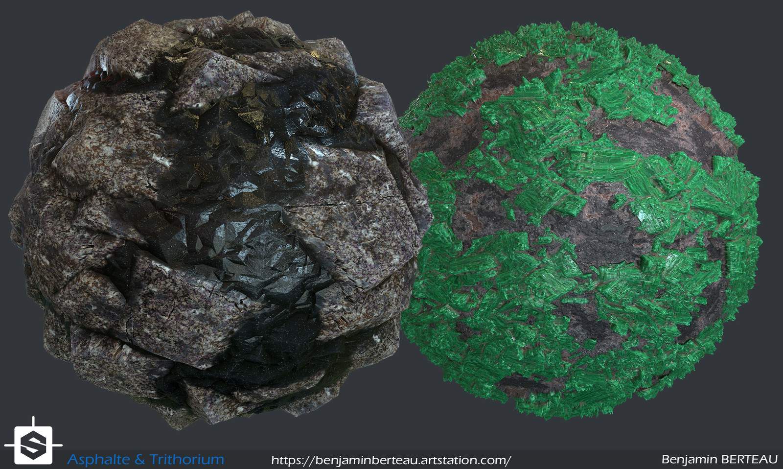 Asphalte and trithorium ore