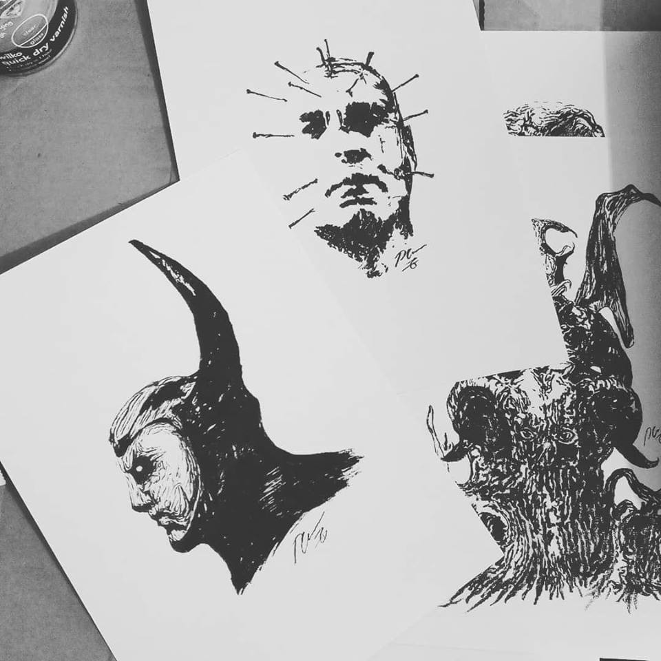 B&W INK DRAWINGS