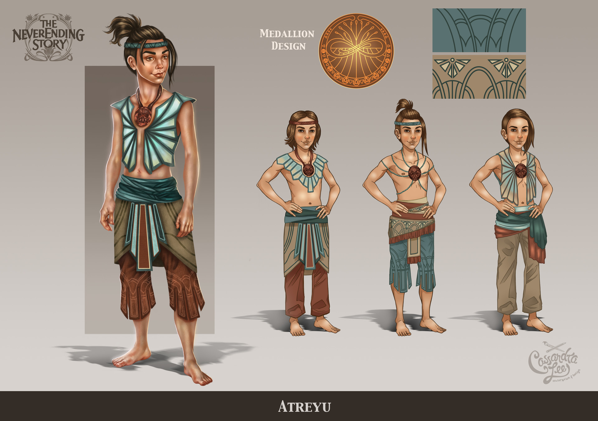 The redesign of Atreyu from The Never Ending Story
