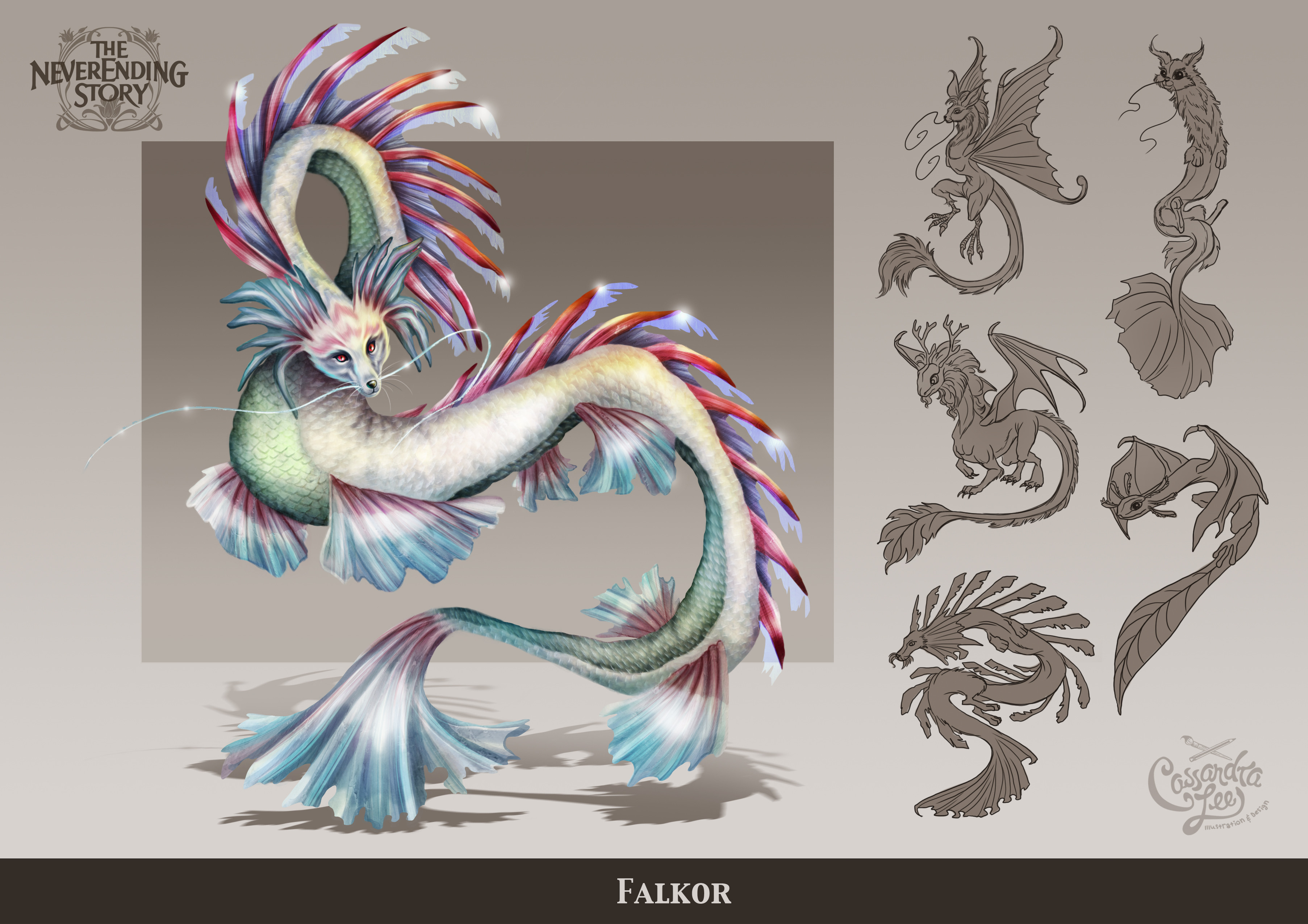 The redesign of Falkor the Luck Dragon
