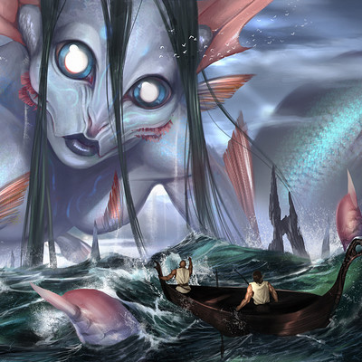 Caio santos mermaid giant3