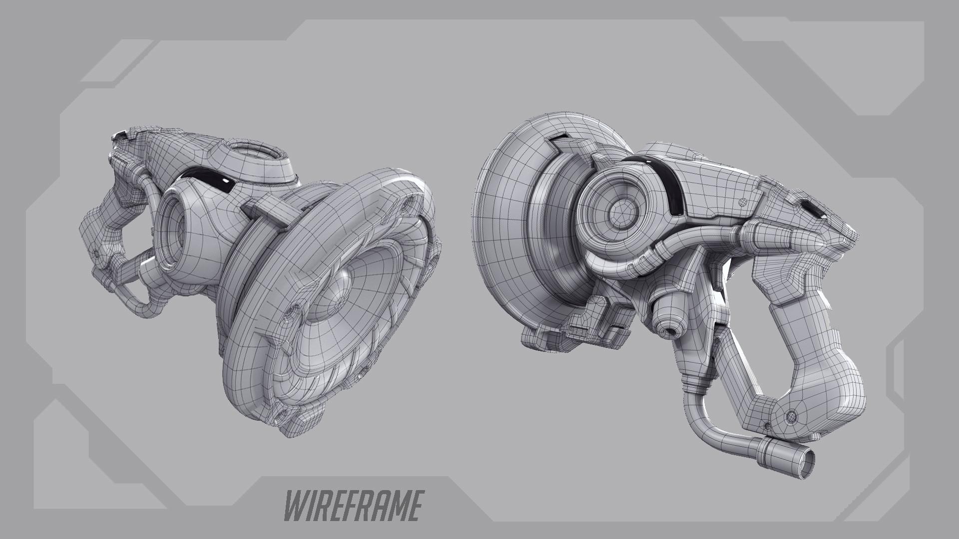 Rakan khamash weapon wireframe