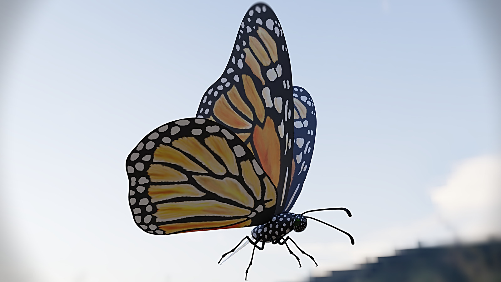 Hand Painted Butterfly (painted w/ Blender Texture Paint)