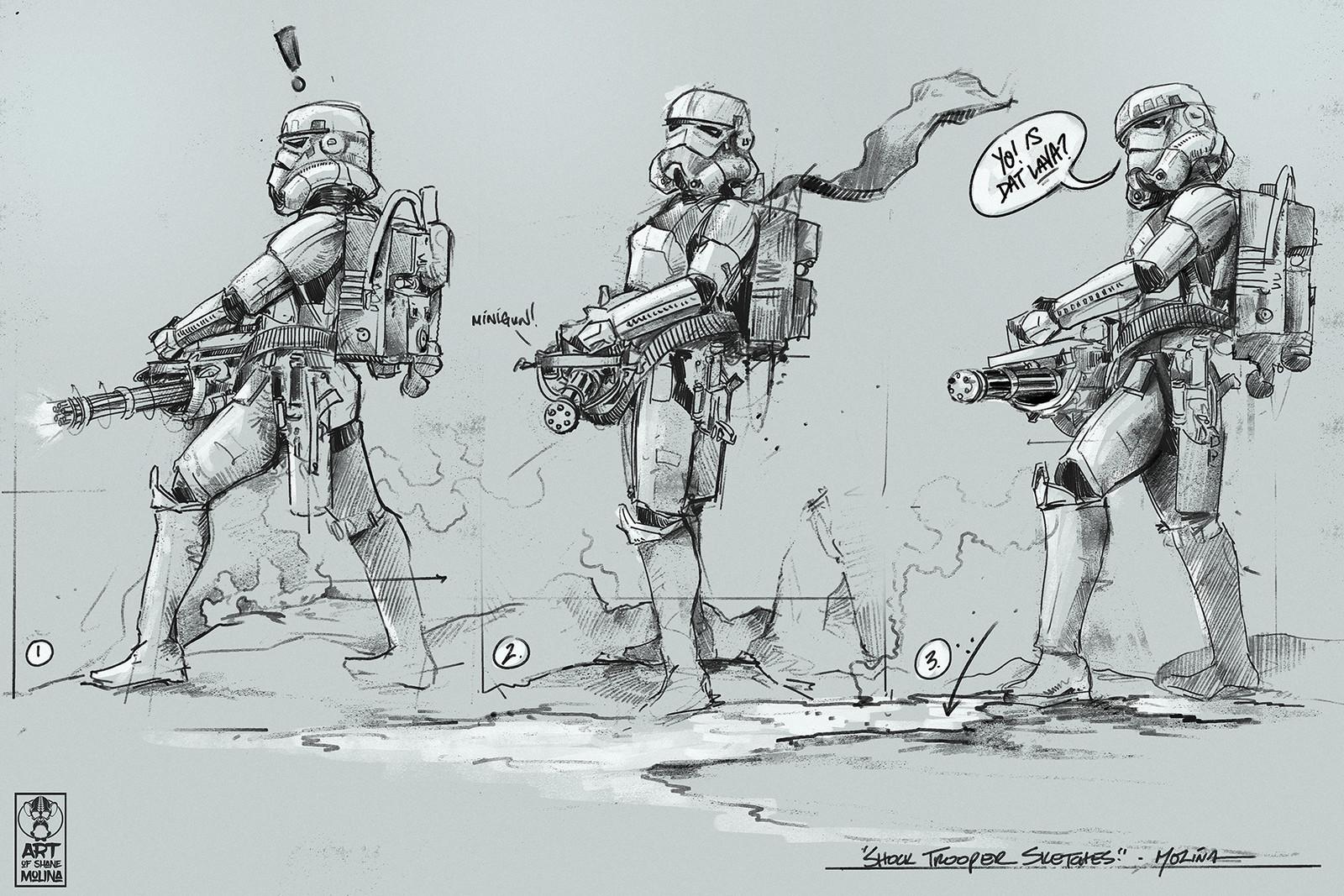 Pre-Sketches - Shocktrooper