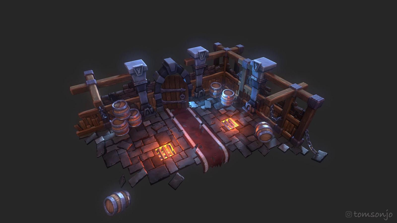 Dungeon 3D Environment