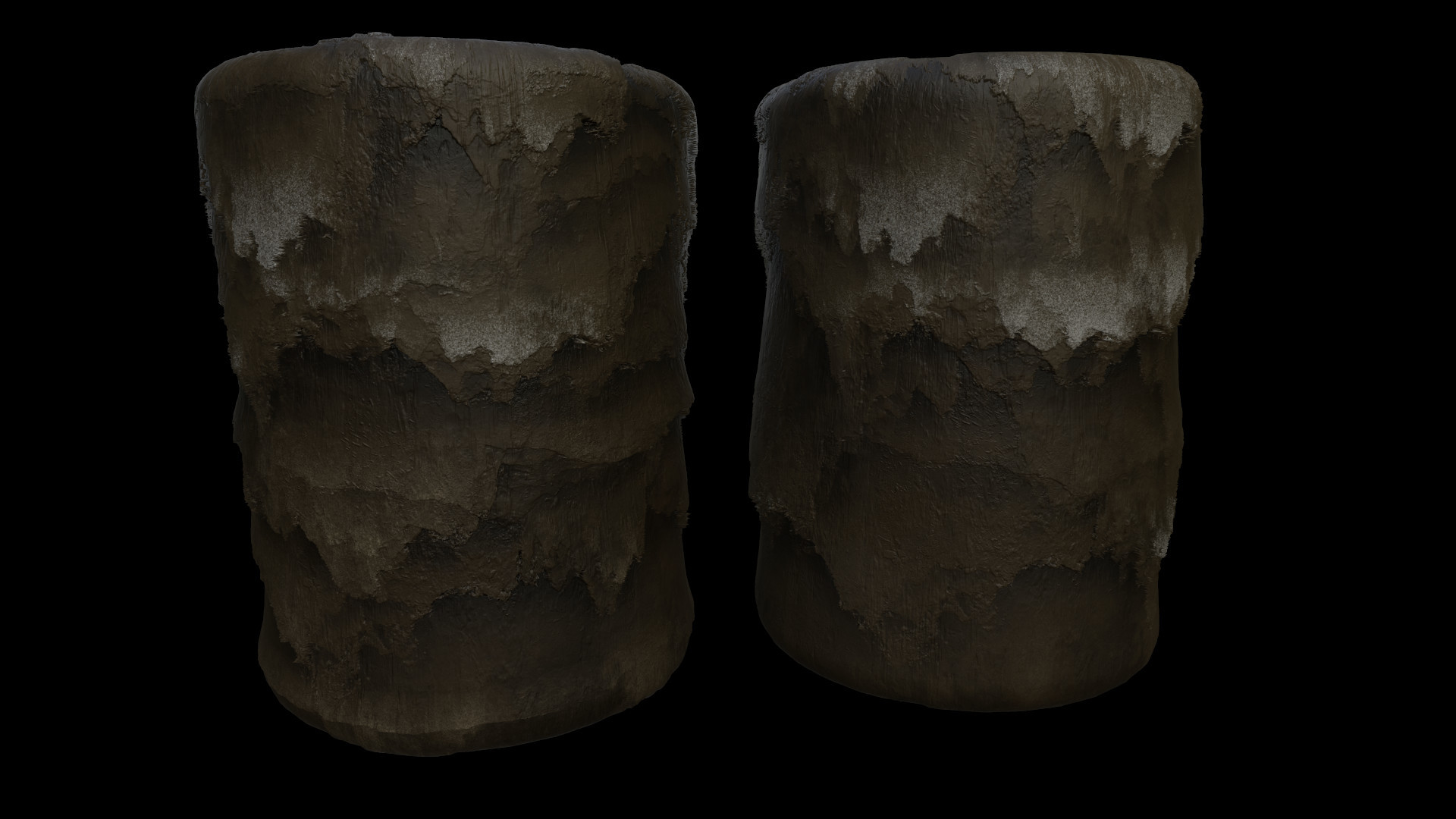 Cave wall material with a couple permutations