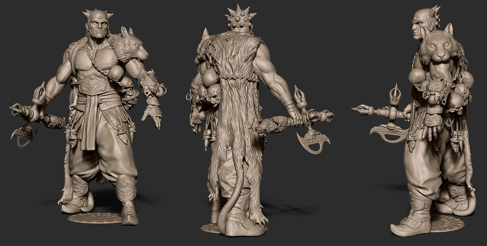 zbrush render of character