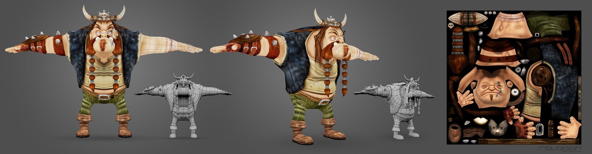Ravegan games viking 08 viking lowpoly