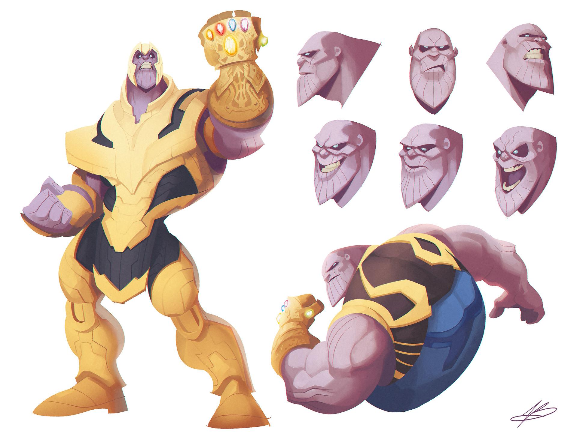Valerio buonfantino character design thanos