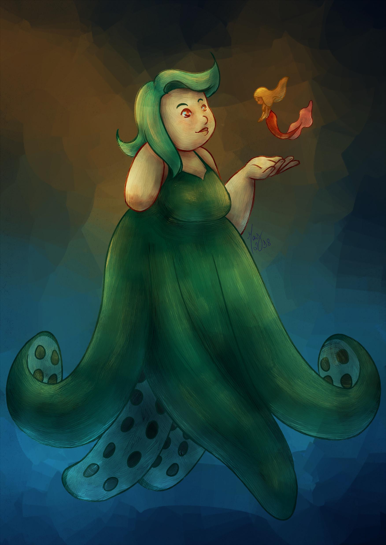 Artstation Octopus Mermaid May Barros
