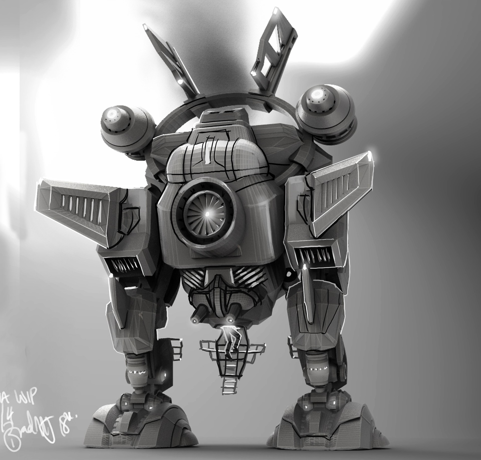 Bradley morgan johnson mecha wip 23rd april bk