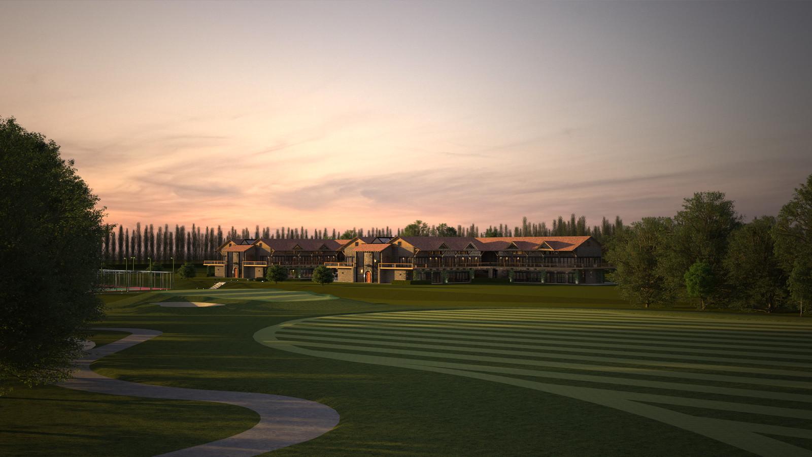 Original model from 2014 La Grange- Rivendell Resort: Golf to Center 02 E  SU + Thea Render