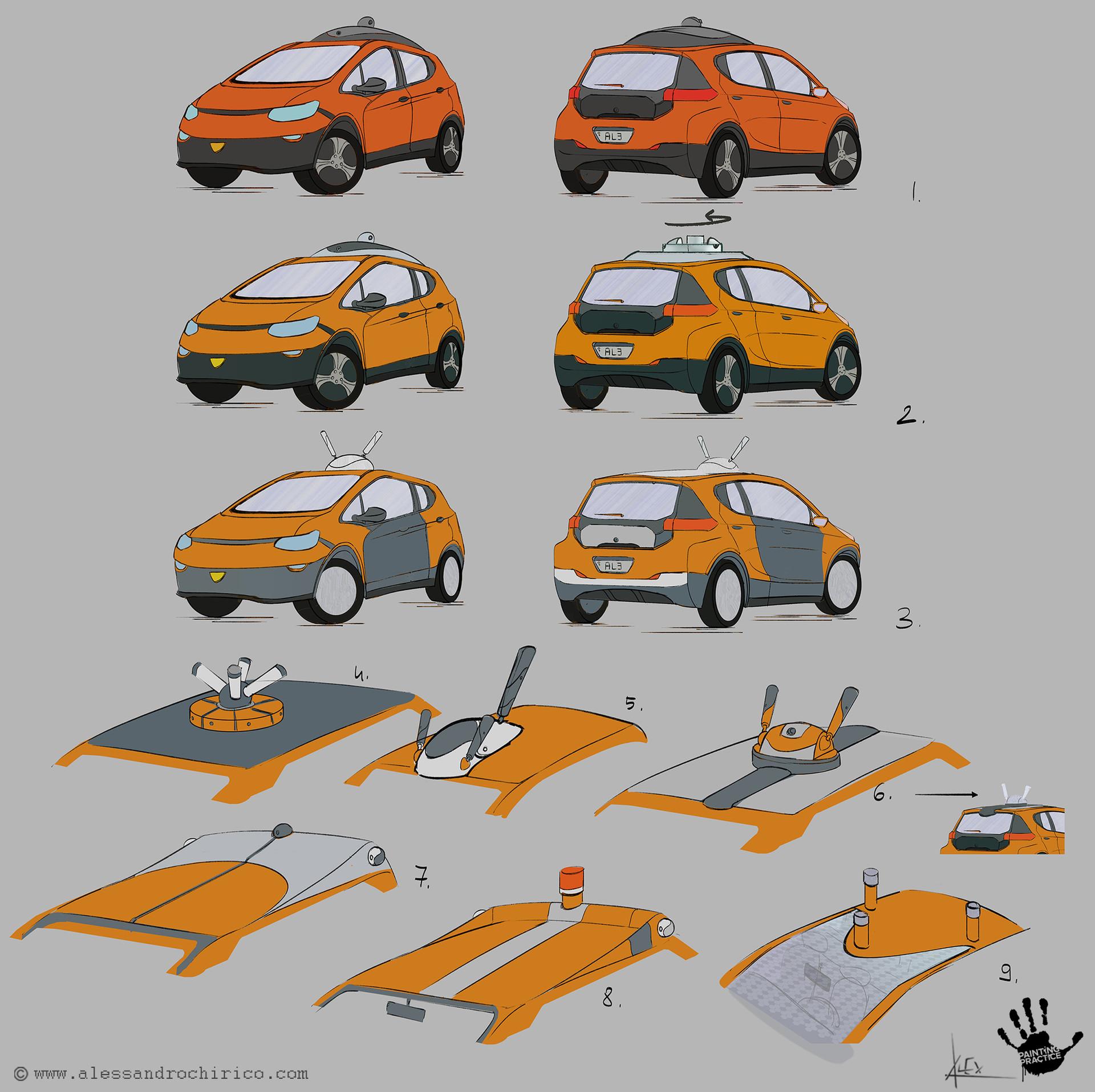 Alessandro chirico 19 car sketches alessandro chirico