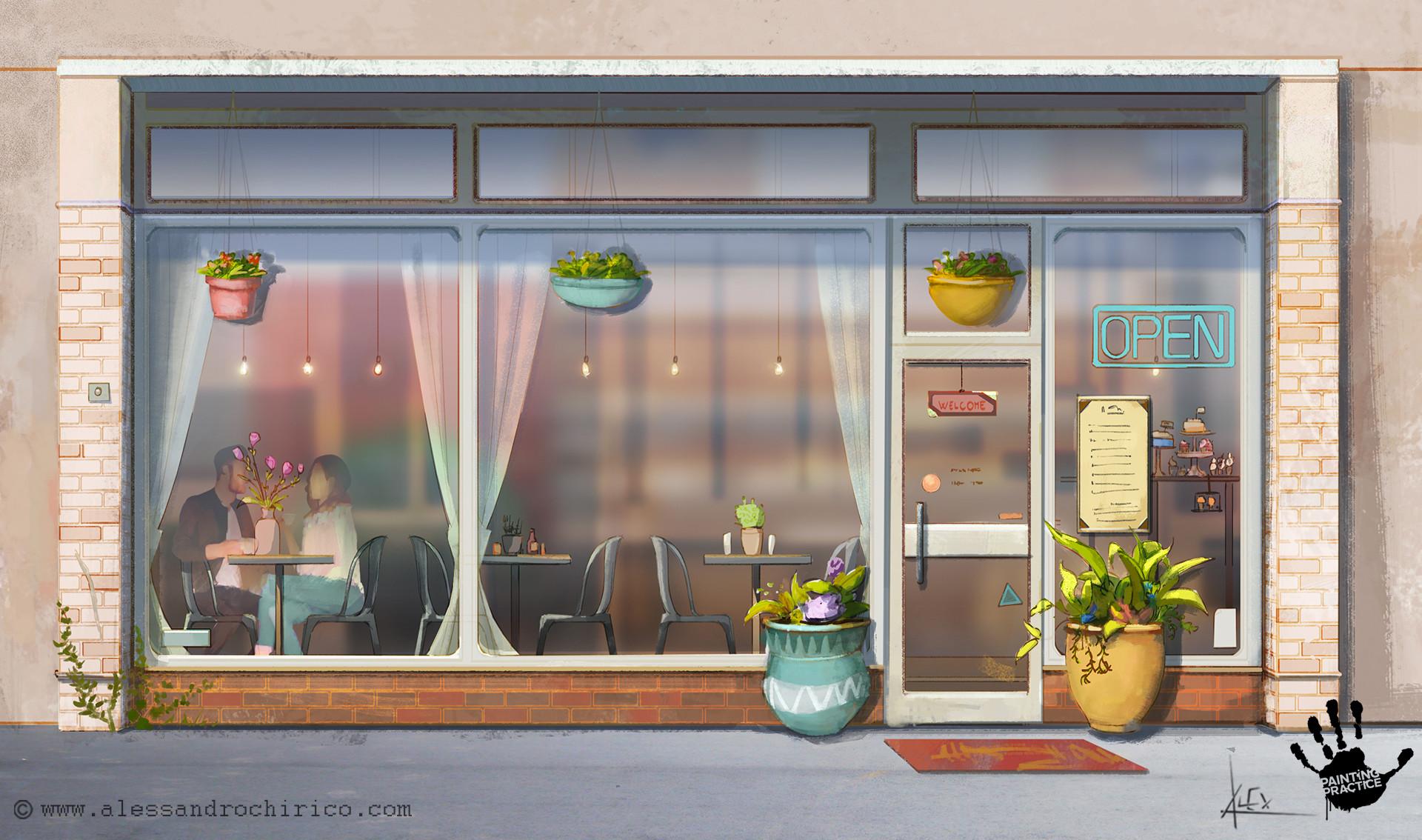 Alessandro chirico 09 cafe sketch alessandro chirico
