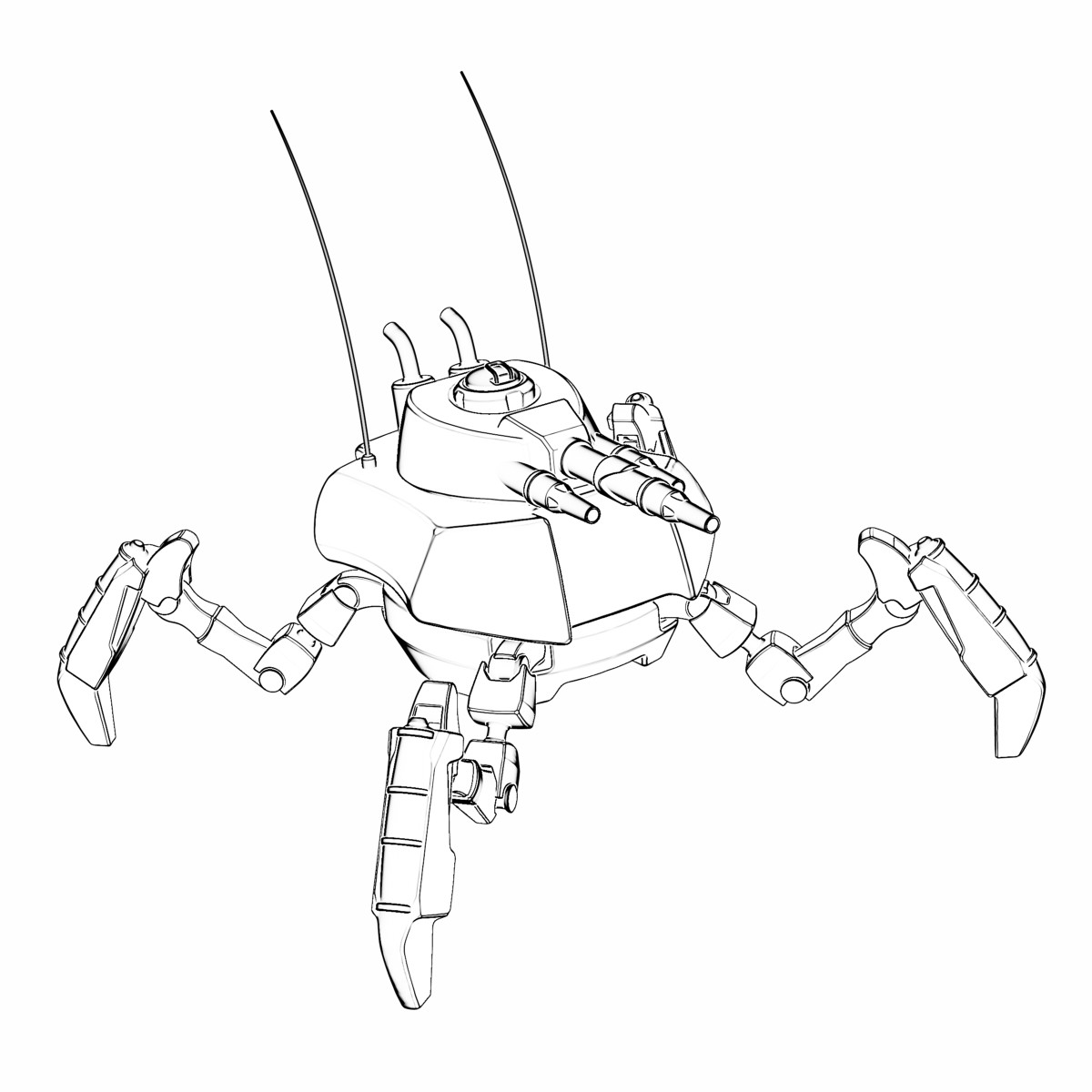 Military Spider-bot Class III (8000kg)