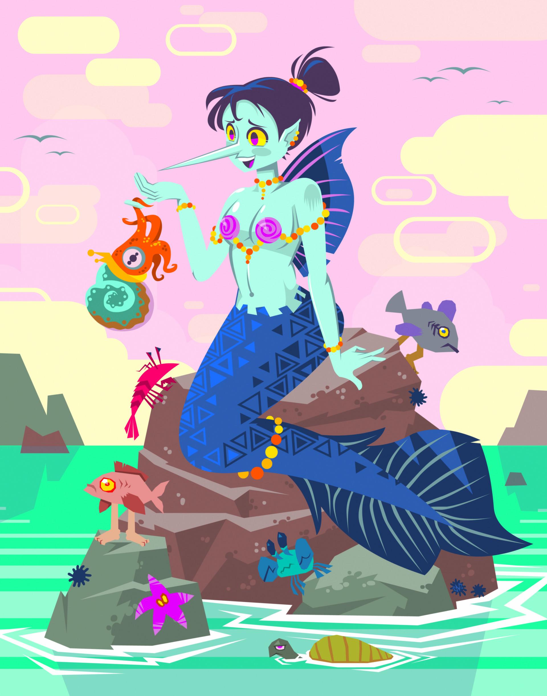 Nathan malone mermaid big