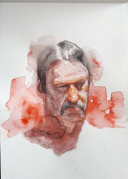 live drawing at Drink'n'Draw Berlin. Watercolor