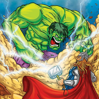 Sevastianos kner ntzokas hulk vs thor