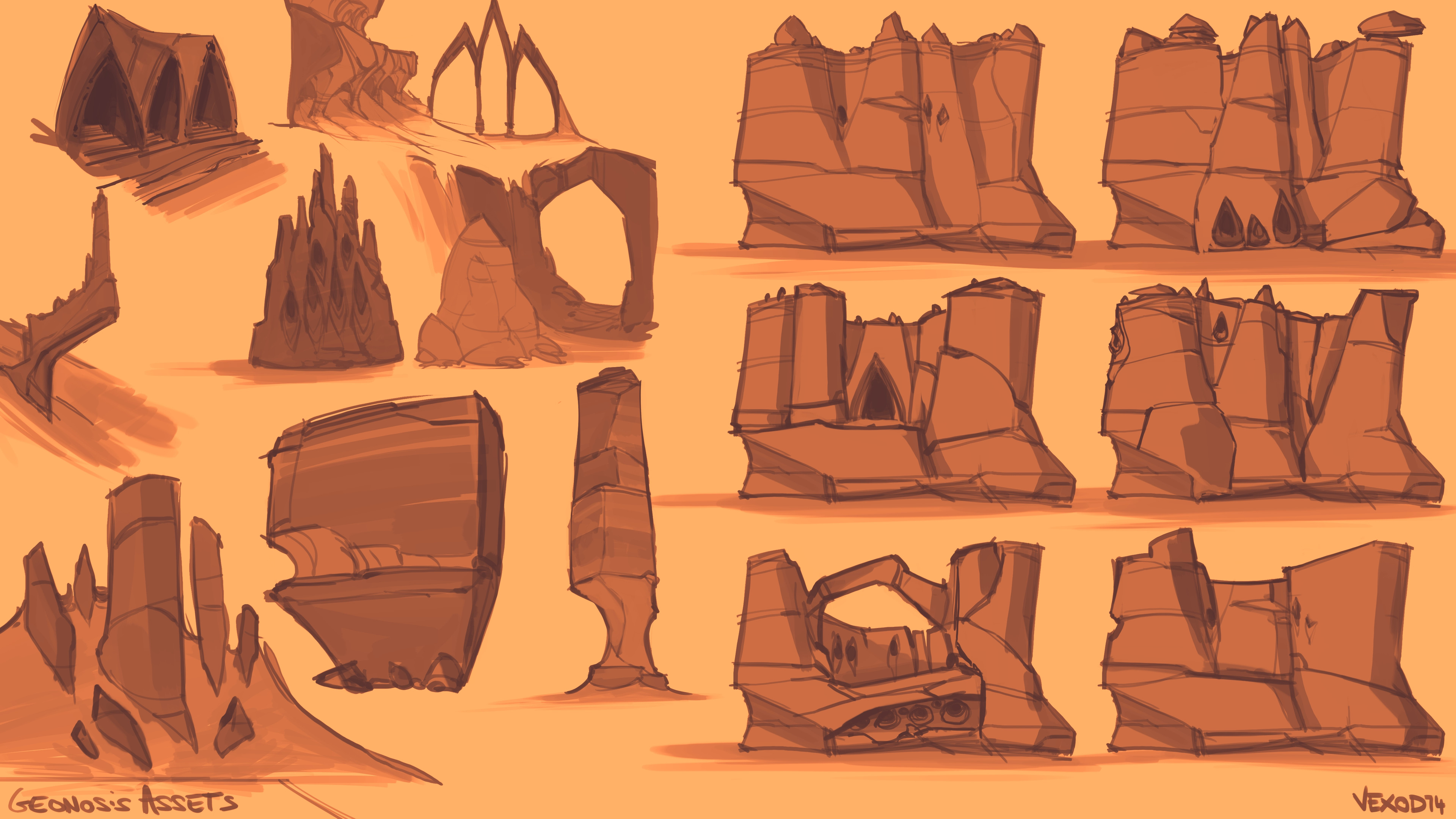 Additional concepts for Geonosis, more focused on Architecture