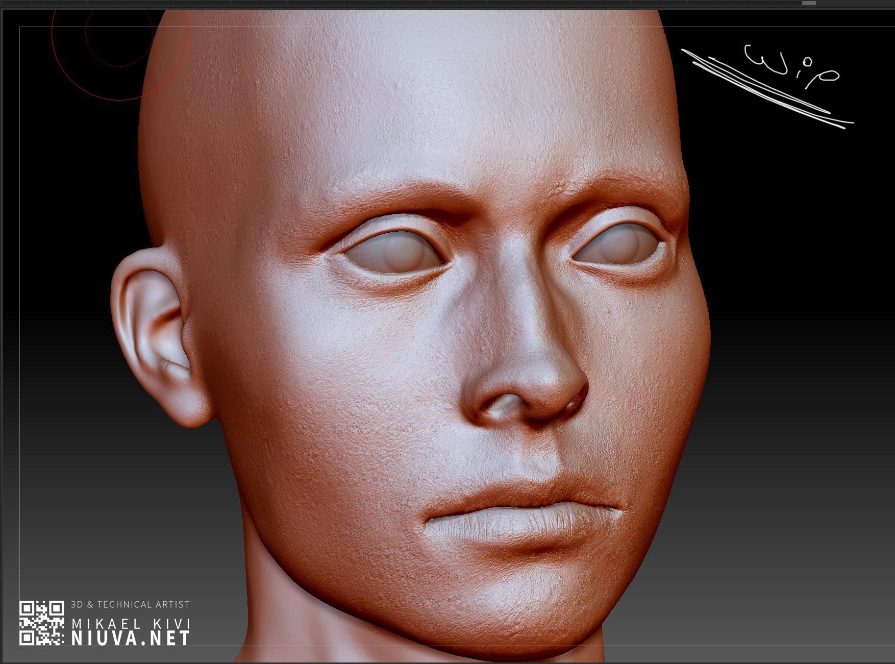 Mikael kivi female face03