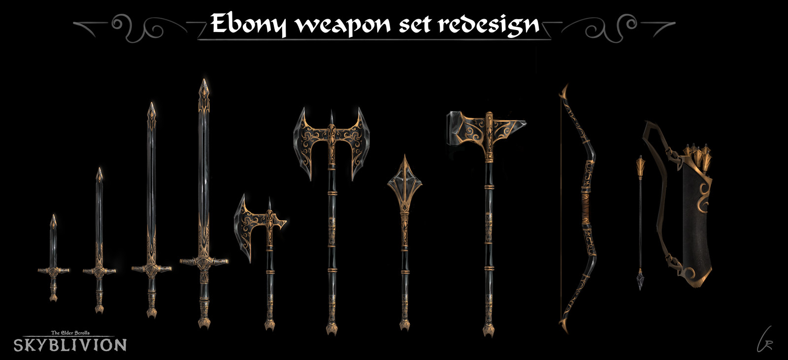 Skyblivion - Ebony weapons redesign
