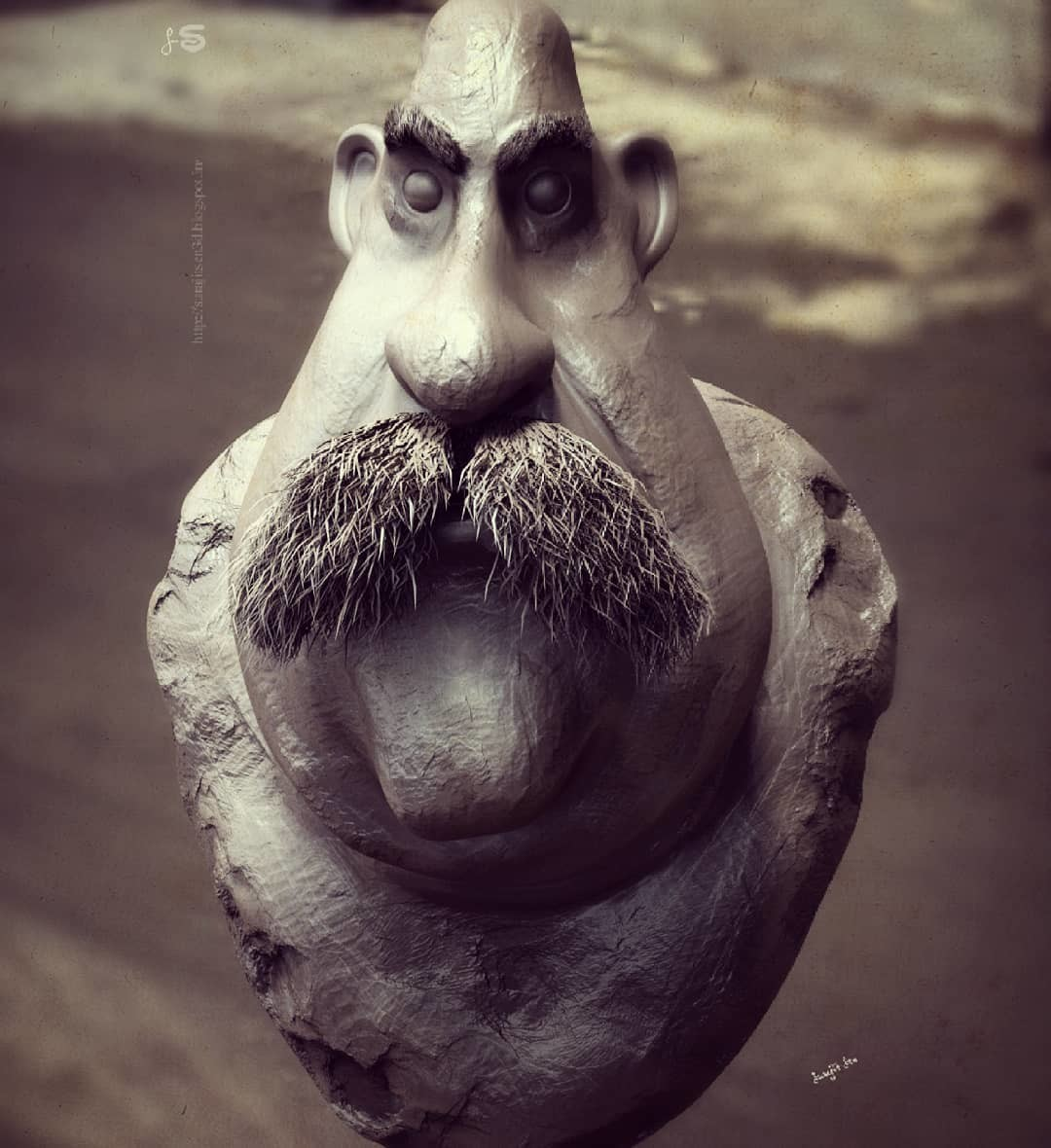 My free time speed sculpt study....I love to play with clay!......tried to sculpt a human face. ...:)  Wish to share :)