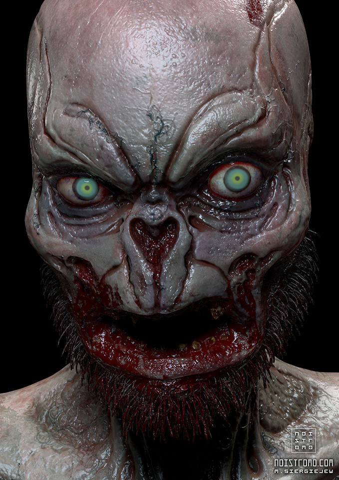 Marius siergiejew zombie mutant by noistromo clean render x960