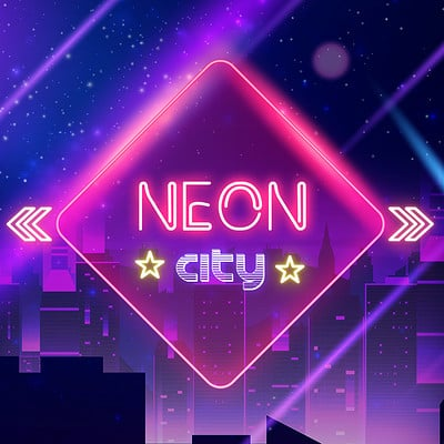 Meli magali ecran menu neon city copie