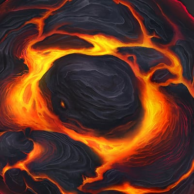 Tile Design - Volcano