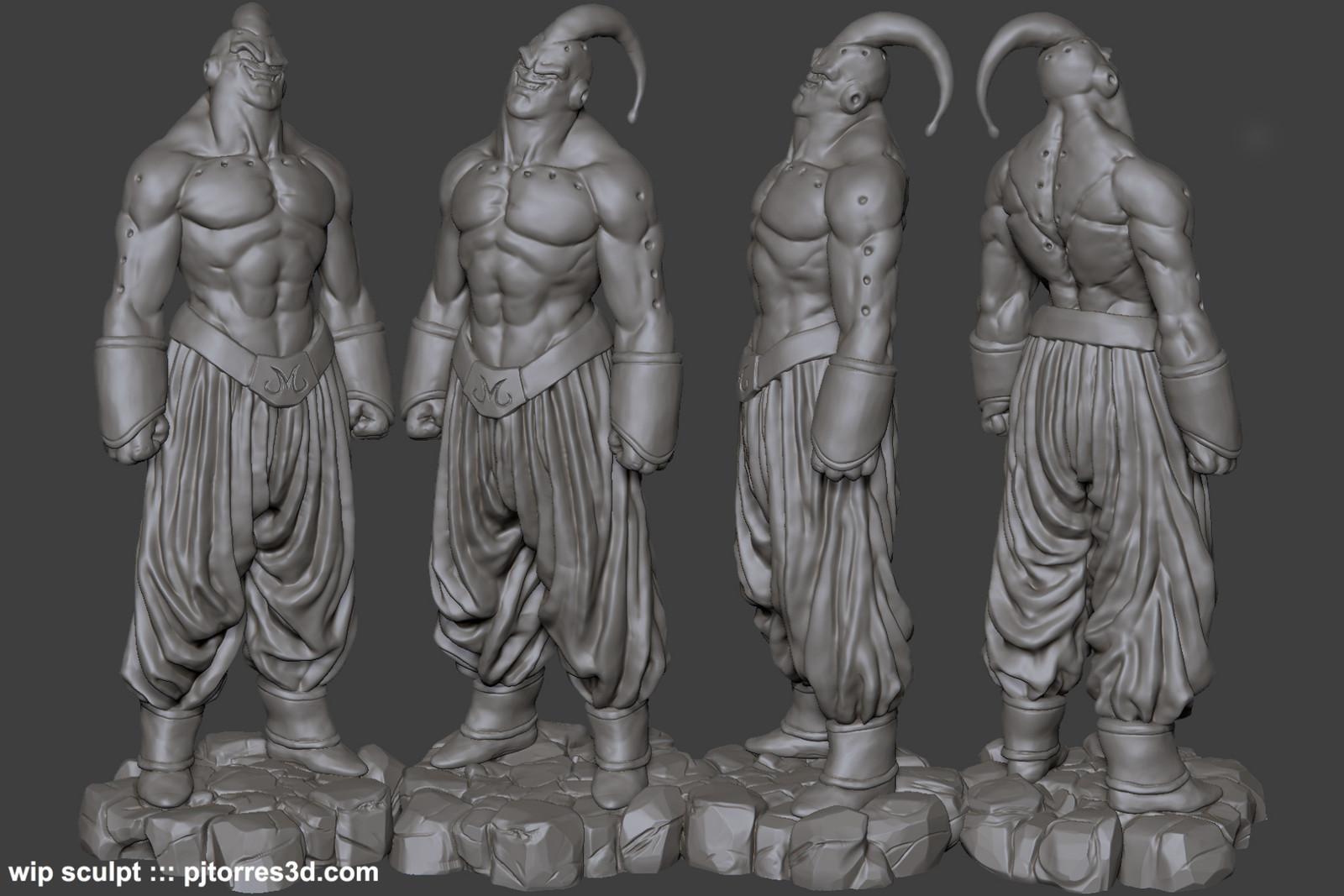 Evil Buu / Fat Buu Sculpts (wip)