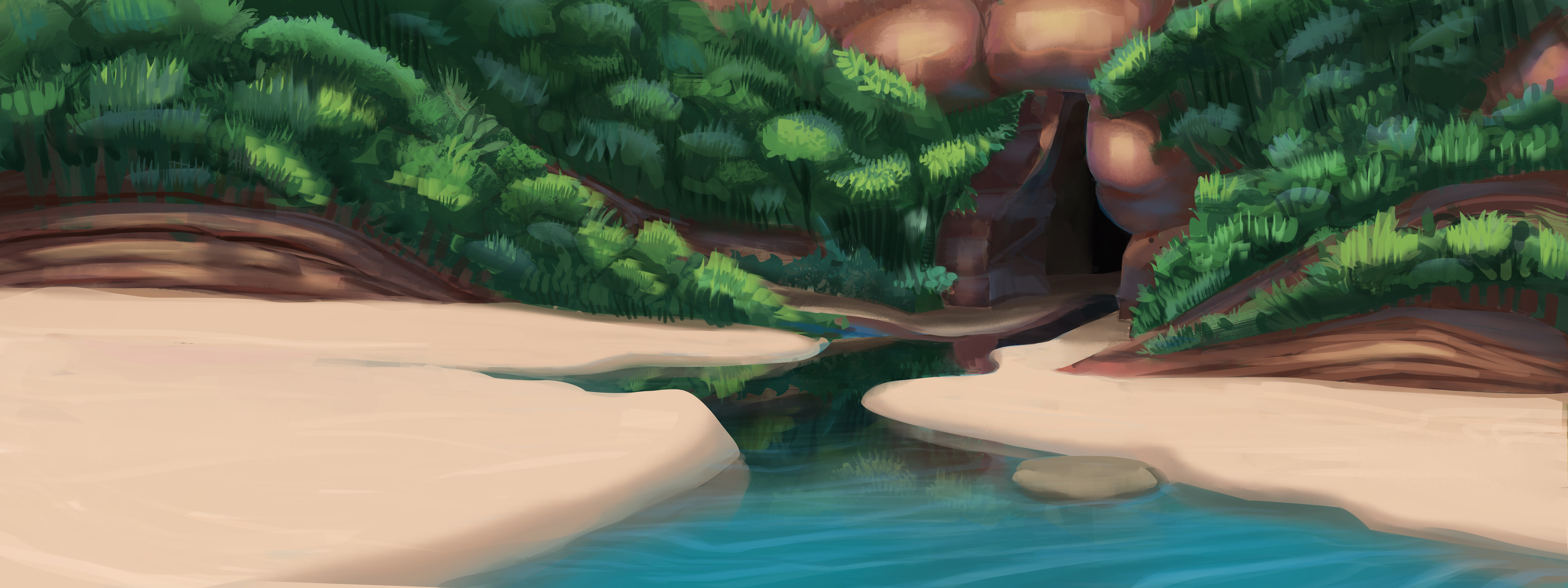 Environment design done in my spare time as a colour practice.