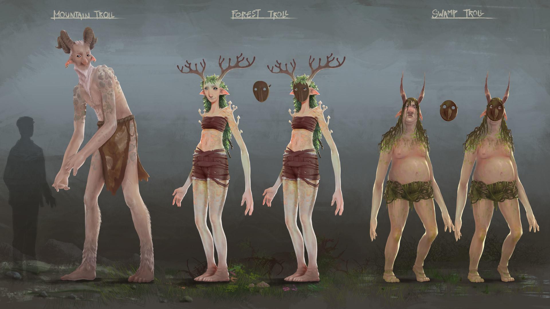 ArtStation - Norwegian Trolls, Maxime Bocquier