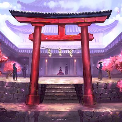 Nele diel japanese courtyard