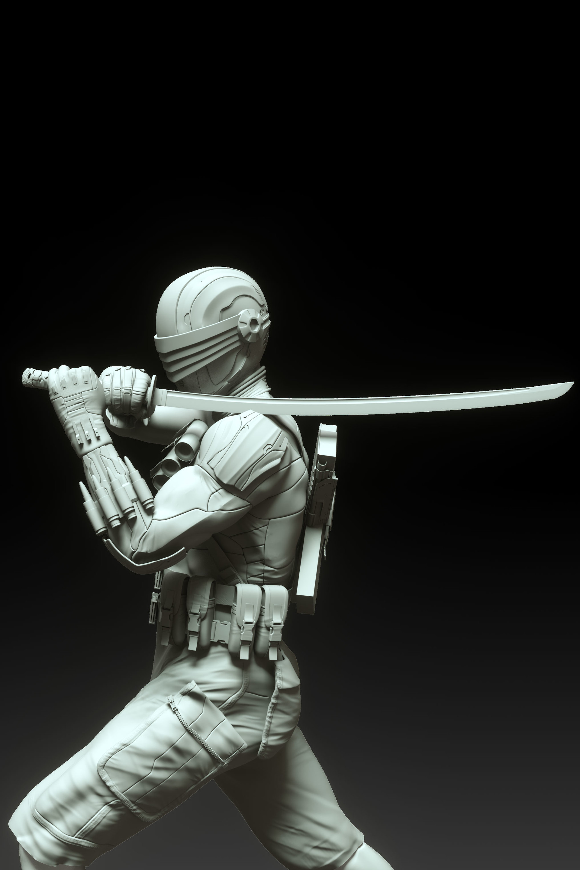 Clay Render Snake Eyes
