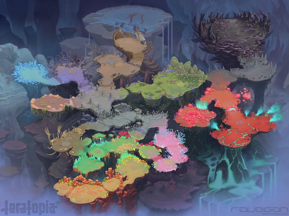Ravegan games teratopia map