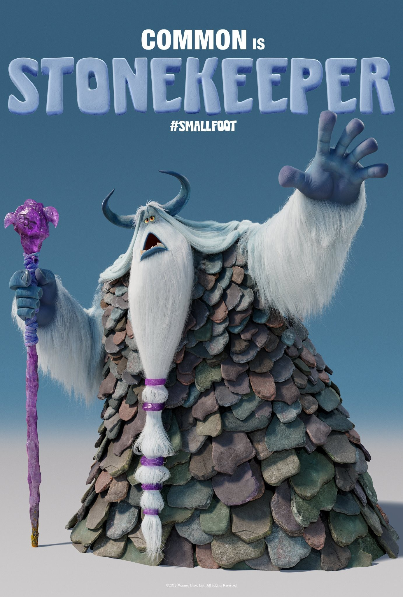 James chan smallfoot poster common is stonekeeper