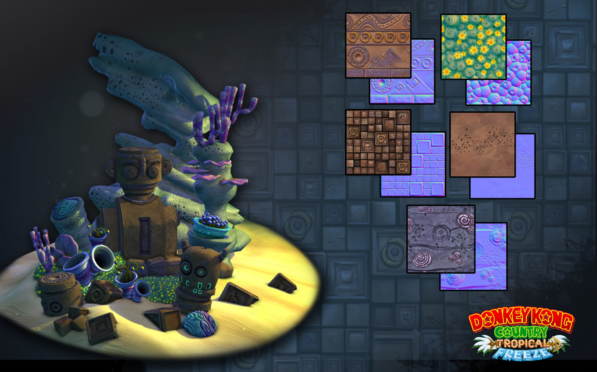 Donkey Kong Country Tropical Freeze - Props and Level Assets