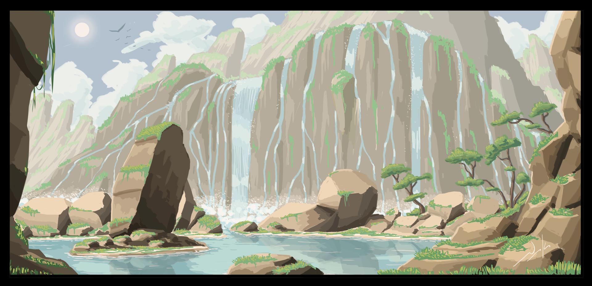 Naka isurita waterfalls