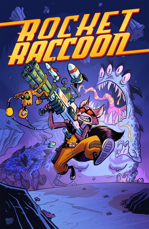 baxter cartoon character bobby baxter - rocket raccoon