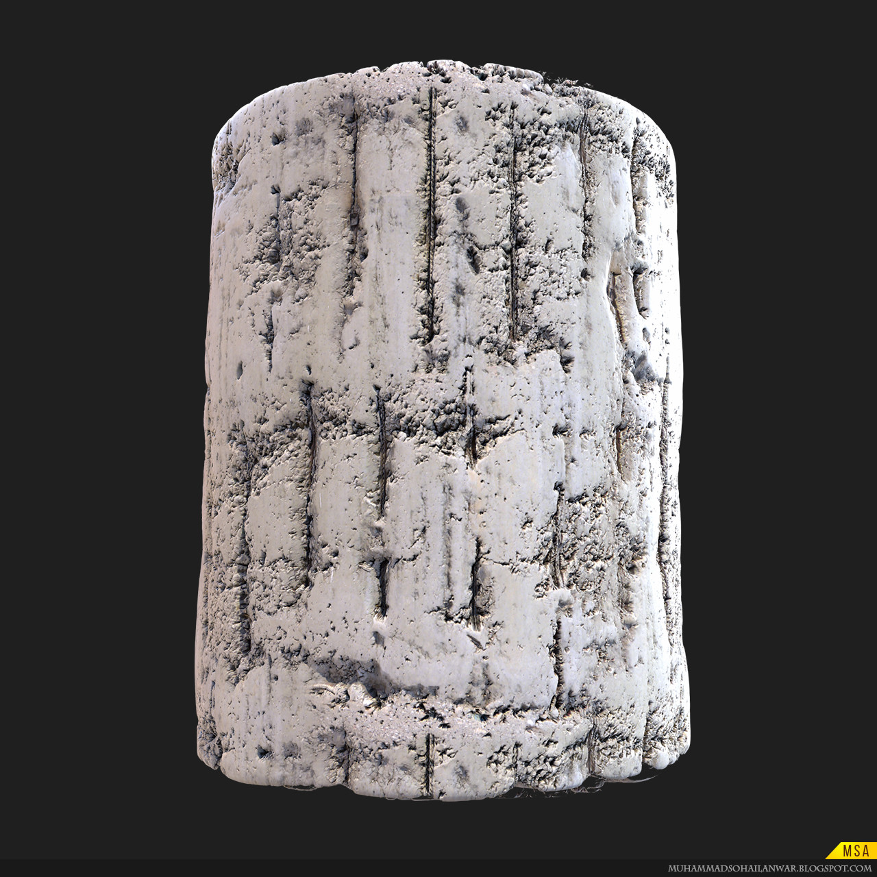 ArtStation - Bunker Wall with Rebar - Game Tiling Texture