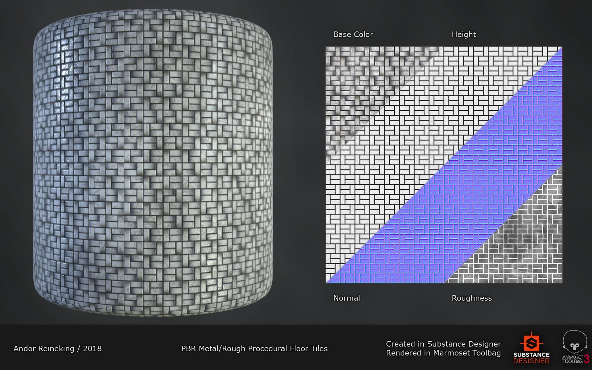 Andor Reineking - Procedural PBR Floor tiles Material