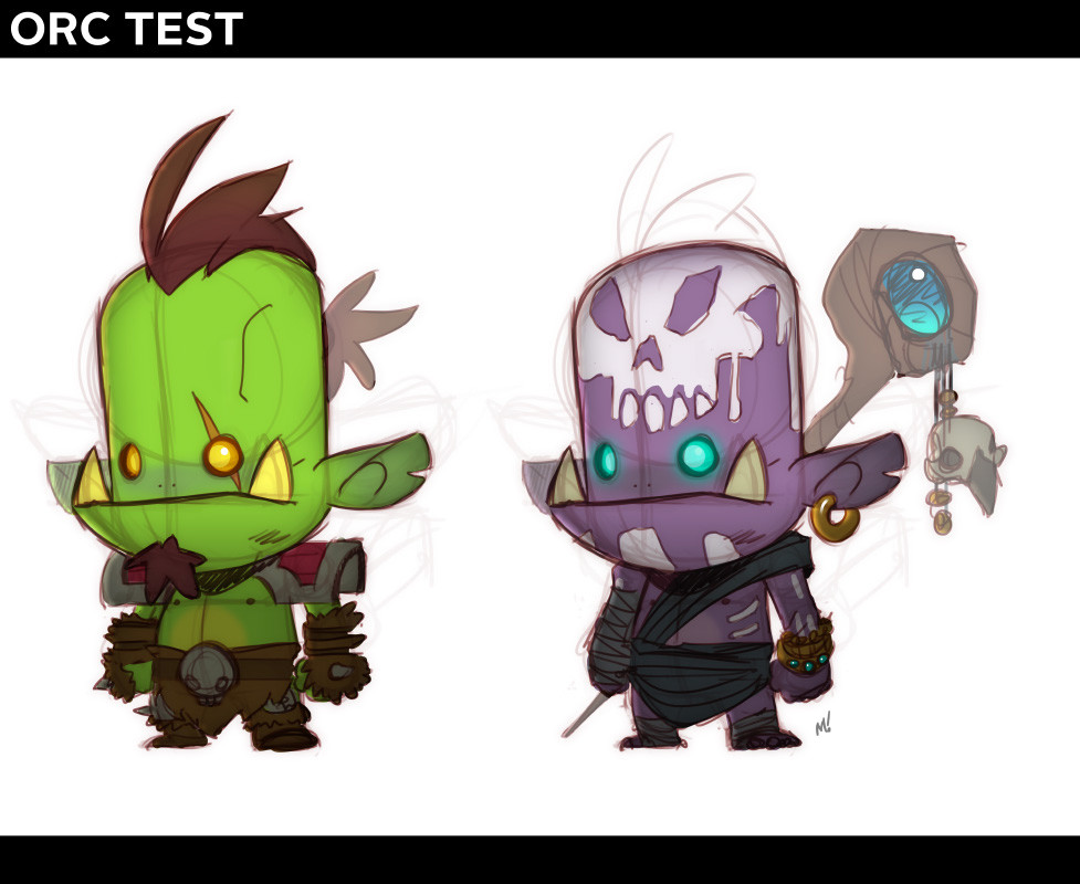 Super-early orc rough based on a low-poly base model