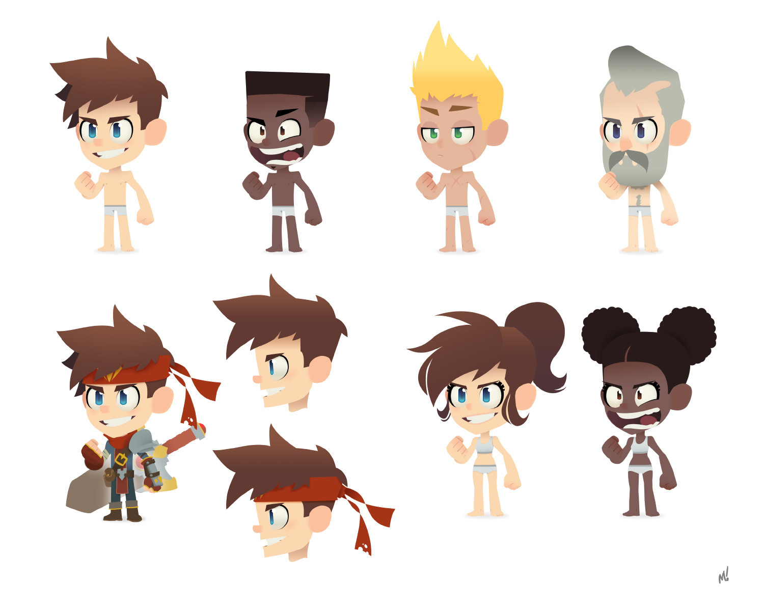Continuation of a character creation system if all players were humans. Just one body type for male and one for female sharing a rig due to constraints.